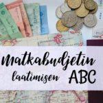 Matkabudjetin laatimisen ABC